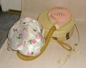 Vintage 60's GE (General Electric) portable bonnet hair dryer