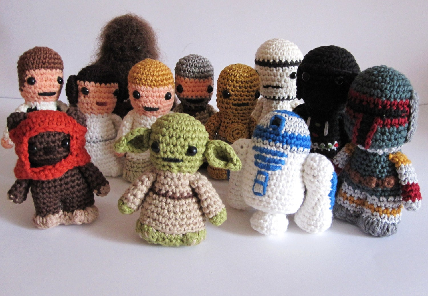 Amigurumi Snowman Pattern : Star wars inspired amigurumi. 12 crocheted star by ...