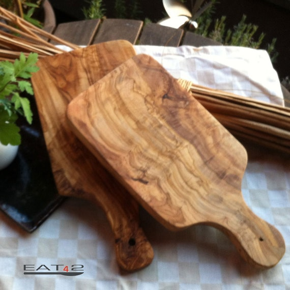 Olive wood cutting board wooden boards with handle