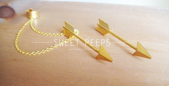 Gold Arrow EarCuff Set