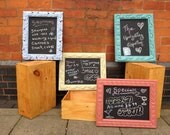 Hand painted and hand carved wood framed chalk boards - Kitchen, Cafe, Bar and more