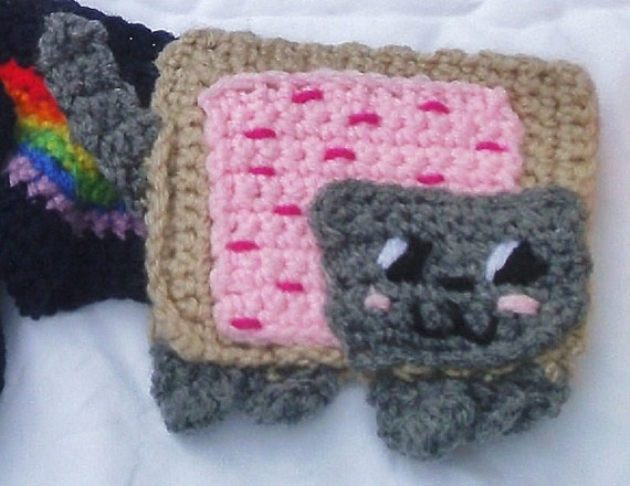 Nyan Cat Scarf Crochet Pattern Free : Crochet Nyan Cat Scarf Free Shipping Sale by GeekChicCrochet