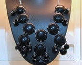 Bubble Necklace - Black - J Crew Inspired Bubble Necklace - Beaded Necklace - Bib Necklace - Bridesmaid Gift -