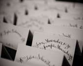 Custom Listing for Savannah- Handwritten Calligraphy Placecards and Escort Cards with Flourishings