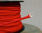 Reserved for Splinter Project: 8 Feet Red 2-Wire Cloth Covered Cord, Vintage Style Cloth Electrical Cord