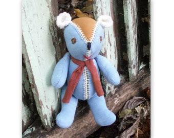 Teddy Bear  Waldorf toy  Baby safe soft toy
