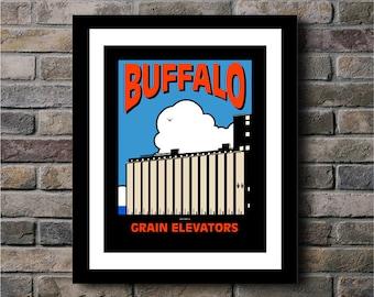 Buffalo Grain Elevator Digital Print - 11x14