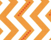 Dotted Zig Zag in Sweet Tangerine - 1 yard