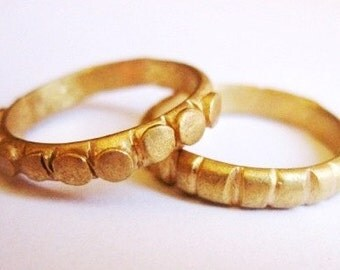 GOLD RING Perfect as a Wedding Ring,14k gold,bride,anciant,astatement ring,roman ring,Stacking Gold Ring Handmade