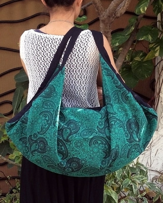 Handmade Hobo bag Shoulder bag Thai Cotton bag Backpack Purse