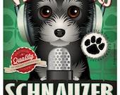 Schnauzer Studio Original Art Print - Custom Dog Breed Print - 11x14 - Personalize with Your Dog's Name