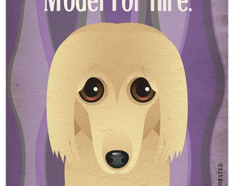 Afghan Hound Funny Dogs Original Art Print - Humorous Dog Breed Art -11x14- Funny Dog Poster - Dogs Incorporated