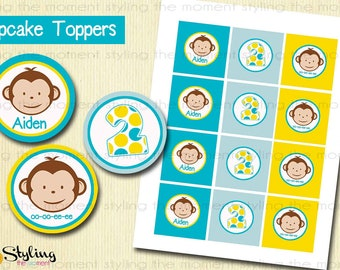 Mod Monkey Cupcake Toppers AND wrappers