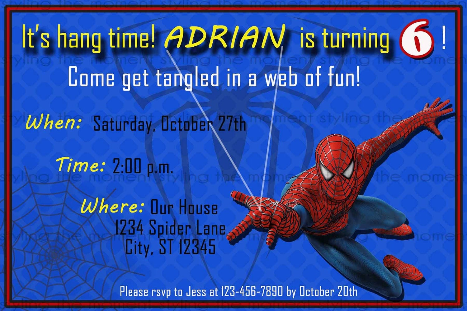 Smart image intended for printable spiderman invitations