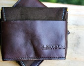 Canvas and Leather Card Holder (custom made)
