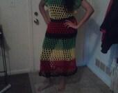 Rasta Crochet Dress