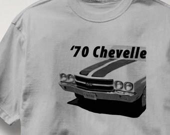 Chevy Chevelle 1970 Classic Chevrolet Car Auto T Shirt Tee Shirt Mens Womens Ladies Youth Kids