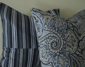 Two Print Throw Pillow Cover