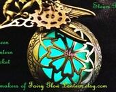 Steampunk Green Lantern Locket, Glwo Lantern, Green Glow, Steampunk Glow Necklace
