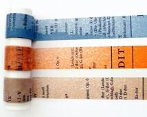 Classiky old book washi tape set (1 metre per design, 3 metres in total)