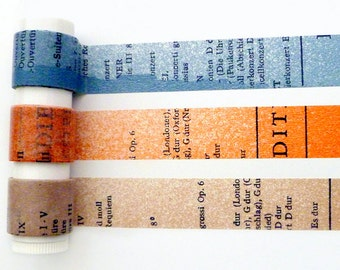 Classiky old book washi tape set (1 metre per design, 3 metres in total)