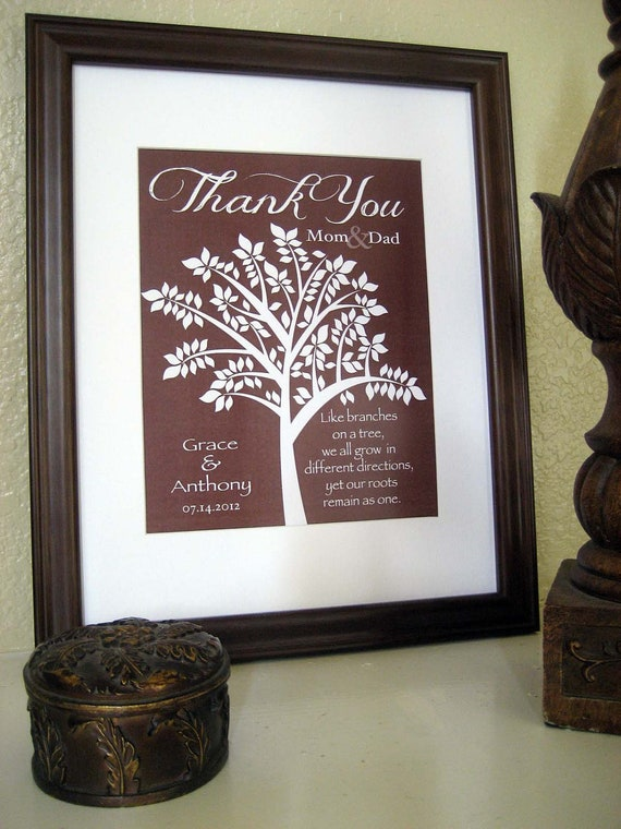 Wedding Gift Bags For Parents : Wedding Gift for Parents In Laws Gift Thank by KreationsbyMarilyn