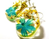 Turquoise earrings. Resin, Glass and Nature Jewelry: Libby