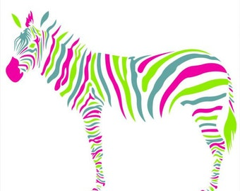 Zebra (1721f) Color sticker