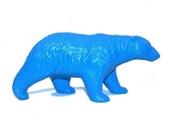 teal blue polar bear statue turquoise bear figurine ceramic modern upcycled hgtv decoration home decor