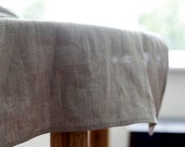 Table runner - gray linen - tablecloth -table decor - 18x72