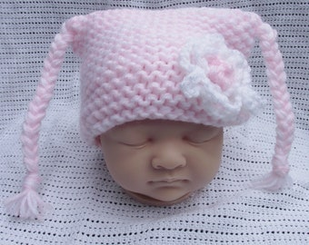 baby girls pigtail bonnet
