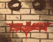Batman and joker painting - HandmadeByAAA