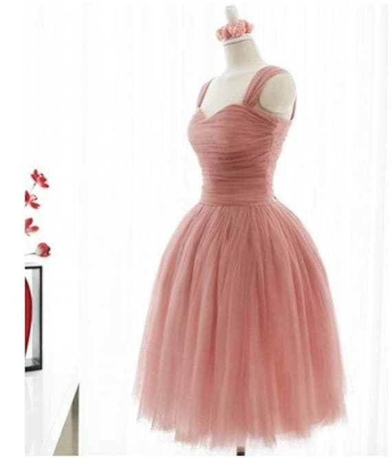 Custom Sweetheart Pink Bride Bridesmaids Wedding Dress Gown Tulle dress  S406