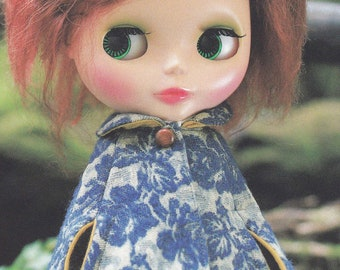 Kenner Neo Blythe doll Cape Coat, Skirt and Turtle Neck Top set pdf Scaled E PATTERN in Japanese and Pieces Titles in English