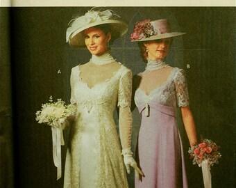 "Designer Dress Circa 1910 by Patti Wagner-Miller Simplicity Pattern 9716  Uncut   Size 6-8-10-12  Bust 30.5-31.5-32.5-34"""