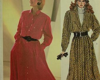 "1980s Designer Shirtdress or Coat Dress by Liz Claiborne McCall's Pattern 2098  Uncut  Size 12  Bust 34"""