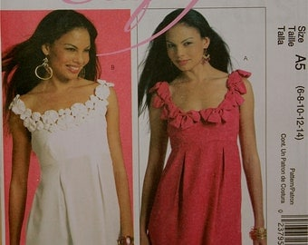 """Summer Tops -Cup Size Adjustments McCall's Pattern 5851 Uncut   Size 6-8-10-12-14  Bust 30.5-31.5-32.5-34-36"""""""