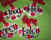 "Personalized Christmas Ornament ""Polka Dot Fun"" Design"