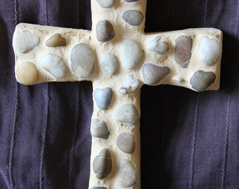 Natural River Stone Cross
