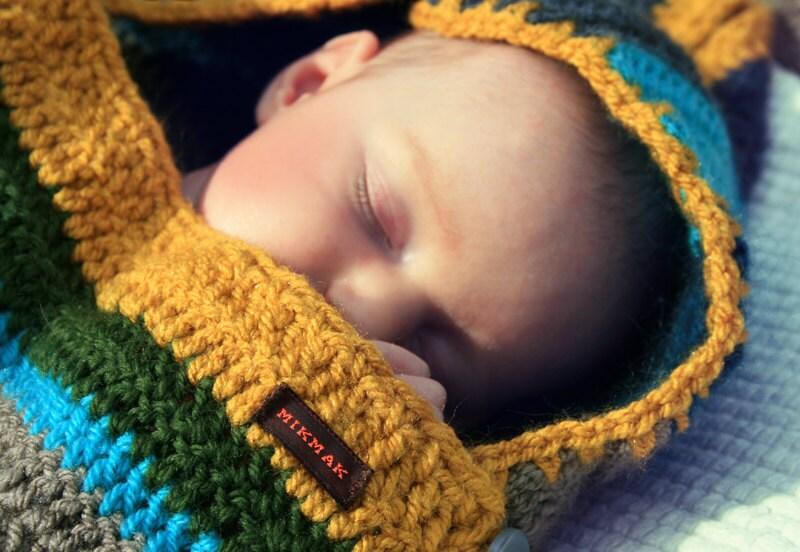Sleep Sack For Baby Crocheted Striped