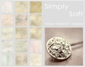 Simply Soft Collection Set of 15 Digital Paper Photoshop Textures Photo Overlays, Immediate Download