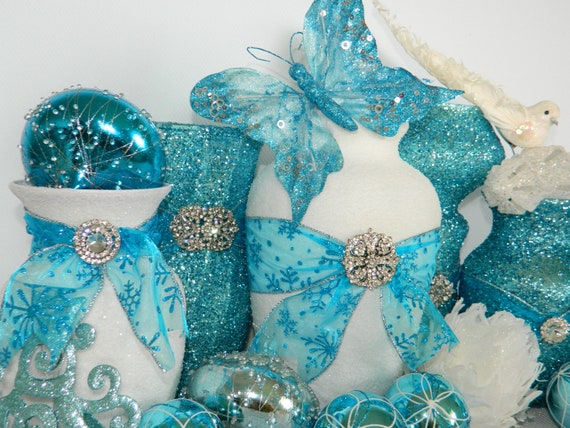 ... Blue Wedding, Aqua, Christmas Wedding, Xmas Wedding Decorations, Vase: https://www.etsy.com/listing/112100930/wedding-decorations-wedding...