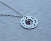 She Believed So She Did Sterling Silver Pendant and Necklace with Swarovski crystal