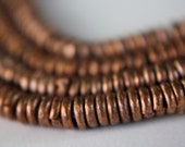African Kenya Copper Heishi Bead Strand 3mm Jump Rings