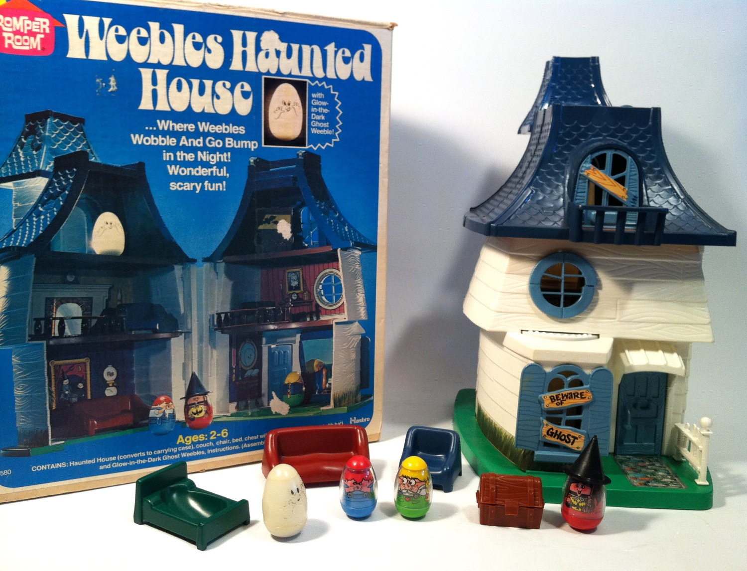 Toys For House : Vintage weebles haunted house complete set in box