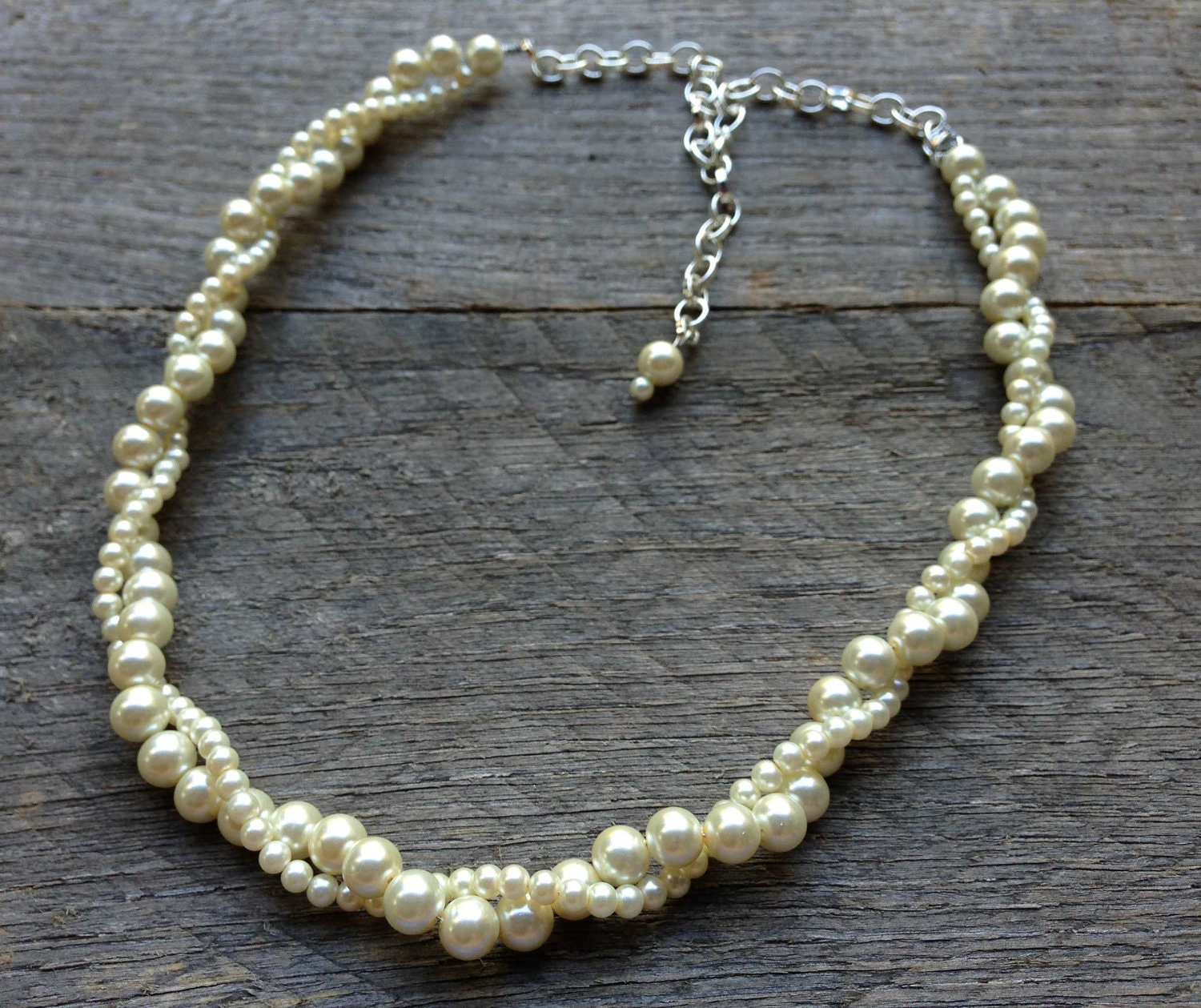 Ivory Pearl Necklace Twisted Clusters On Silver Or Gold. Knitted Necklace. Opal Ring Necklace. Garnet Gemstone Necklace. Pink Rhinestone Necklace. Tri Tone Necklace. Tear Necklace. Middle Necklace. Spiny Oyster Necklace