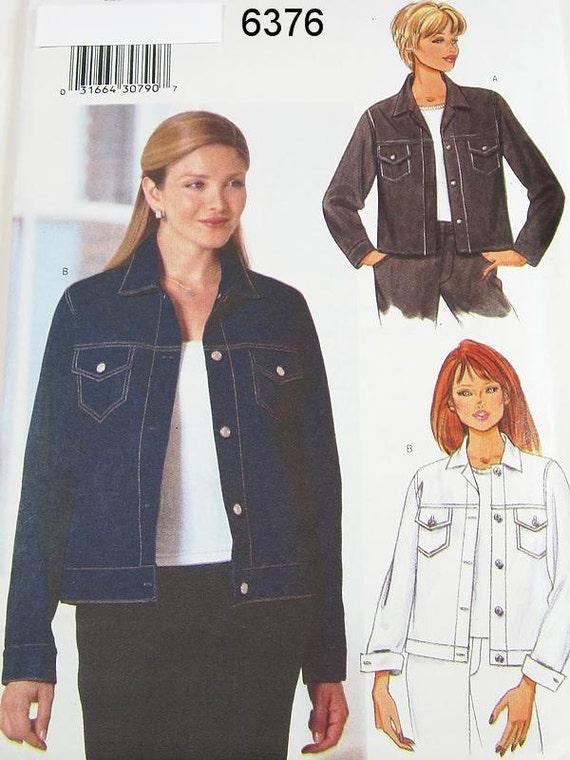 Butterick Jacket Pattern 6376 - Misses' Denim Jacket - SZ 6/8/10