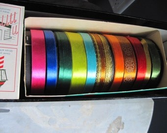 Vintage ribbon and scotch tape - 12 Days of Christmas box (unused)