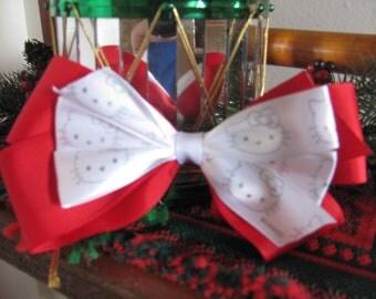 Hello Kitty Christmas Hair Bow