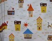 CLEARANCE French Village Small Flat Paper Bags. Made in Japan by Heiko  (10 bags)   4.5 x 6.25